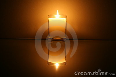 Candle Reflection Royalty Free Stock Image - Image: 12960986