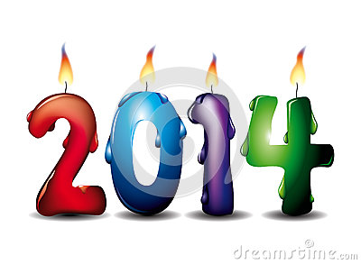 2014 lighted candles