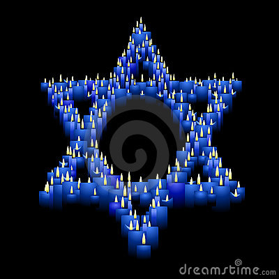 Candle star of David
