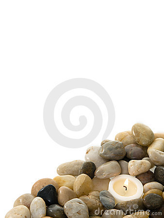 Candle in stones