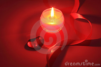 Candle for Valentine s Day, weddings