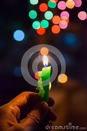 Free Candle With Bokeh Background Royalty Free Stock Images - 62686449