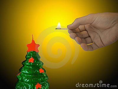 Candle (xmas tree)