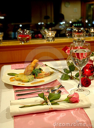Free Candlelight Dinner Stock Image - 499951