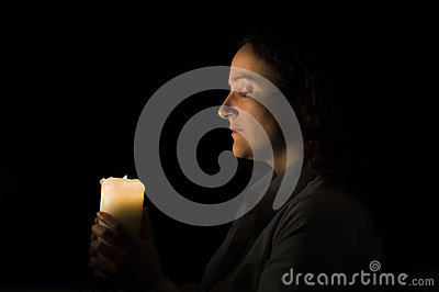 Candlelight in her hands