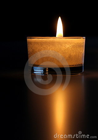 Candlelight and reflexion