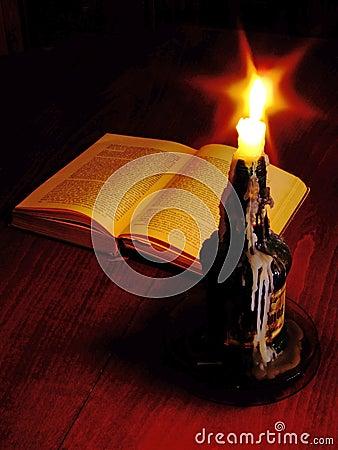Candlelit reading