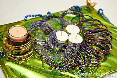 Candles and Bangles for Pakistani Mehndi ceremony