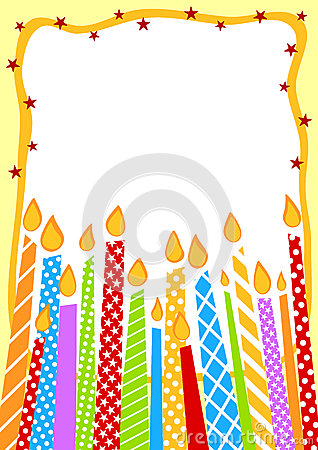 Candles Birthday Invitation Card