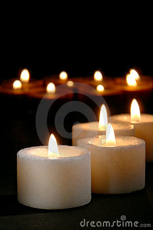 Candles for Church Prayer or Spiritual Reflection