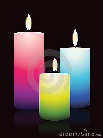 Candles, glowing in the darkness