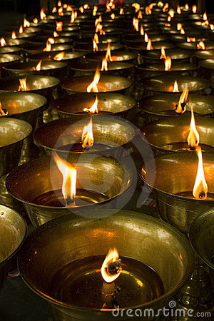 Free Candles In Buddhist Temple Royalty Free Stock Photos - 11826858