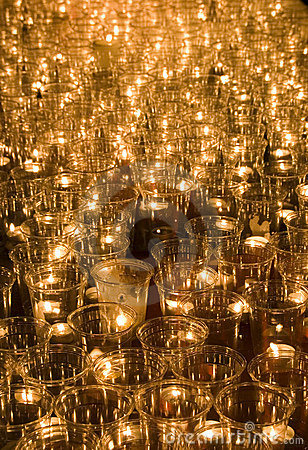 Candles at the Light Festival in Leipzig, Germany Editorial Stock Image