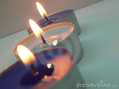 Candles lighted