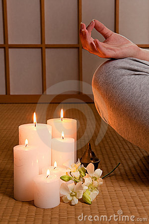 Candles and meditation