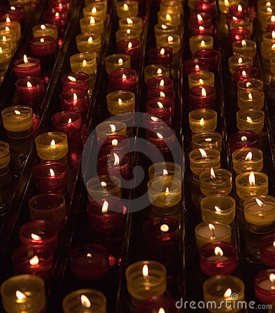 Candles in memory about died