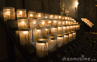 Candles in Notre Dame