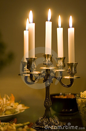 Free Candles On A Table Stock Photos - 6514193