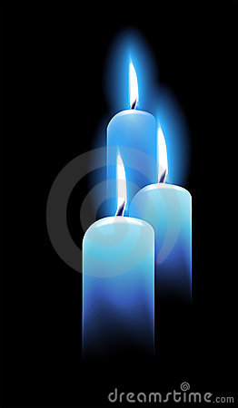 Free Candles On Black Royalty Free Stock Photos - 21908998