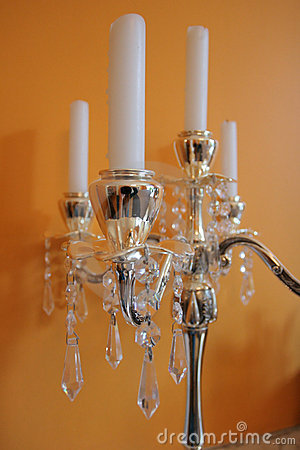 Free Candles On Golden Candleholder Stock Image - 3246171