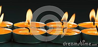 Candles shine