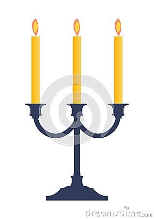 Free Candlestick Candle Holder Illu Royalty Free Stock Photos - 3552748
