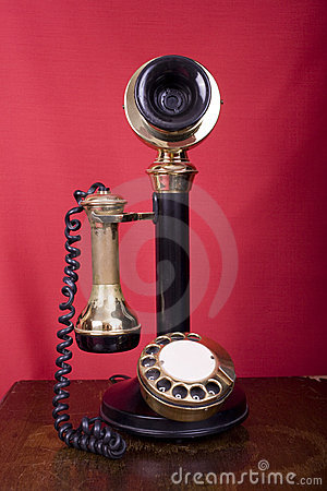 Candlestick Phone on Table