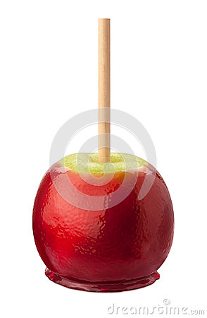 Candy Apple with clipping path