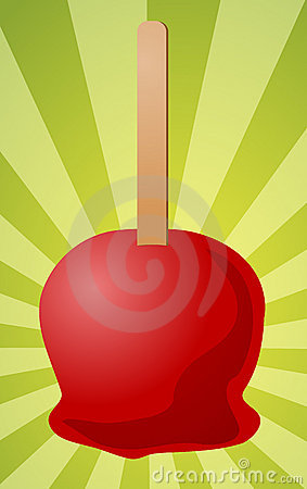 Candy apple illustration