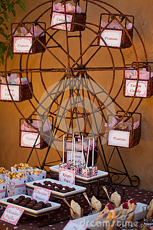 Candy bar table