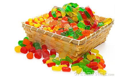 Candy Basket Editorial Photography
