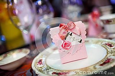 Candy box at wedding