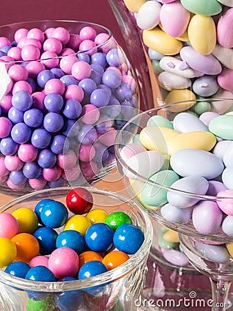 Candy Buffet and Dessert Table Closeup