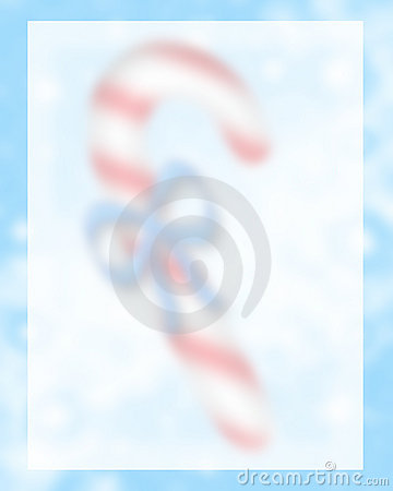 Candy Cane Background Blurred