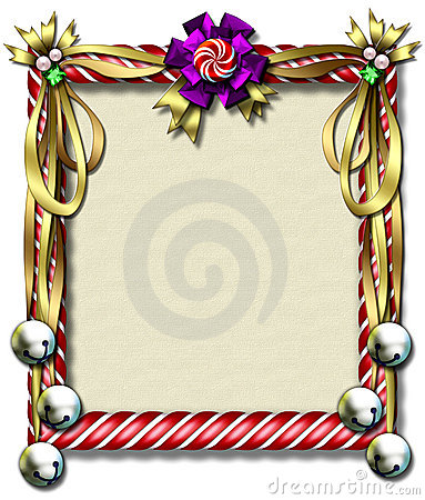 Candy cane-bell frame