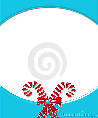 Candy Cane Card Frame 2
