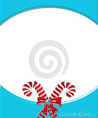 Candy Cane Card Frame 2