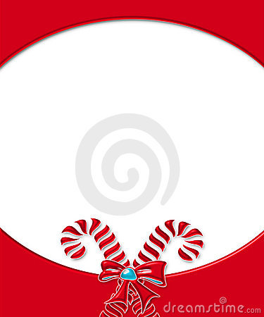 Candy Cane Card Frame 3