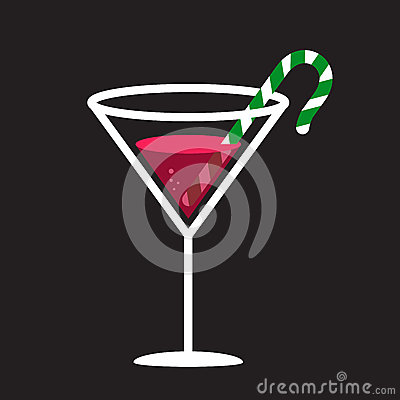 Candy Cane In Glass