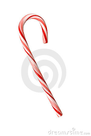 Free Candy Cane Isolated On White Stock Image - 50041