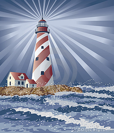 Candy Cane Lighthouse