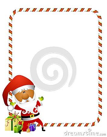 Candy Cane Santa Border 2
