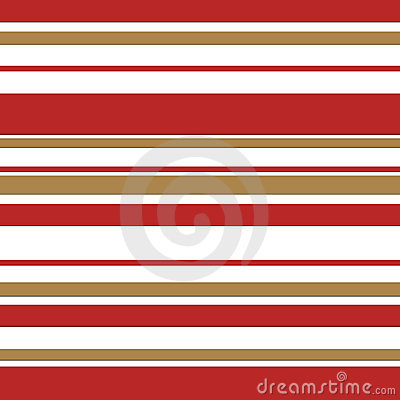 Candy cane stripe with gold