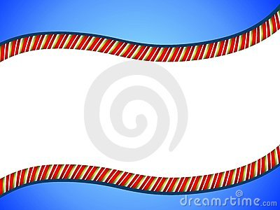 Candy Cane Swoosh Border