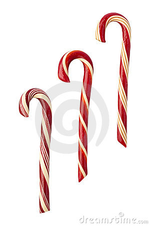 Candy Canes isolated with clipping path