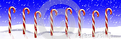 Candy Canes Snow