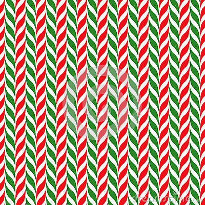 Free Candy Canes Vector Background. Seamless Xmas Pattern With Red, Green And White Candy Cane Stripes. Royalty Free Stock Image - 65104436