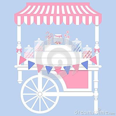 Free Candy Cart Vector Illustration Royalty Free Stock Image - 108476596