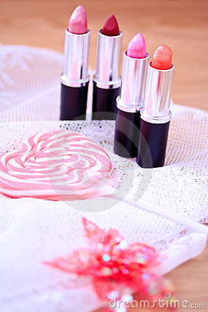 Candy color lipsticks