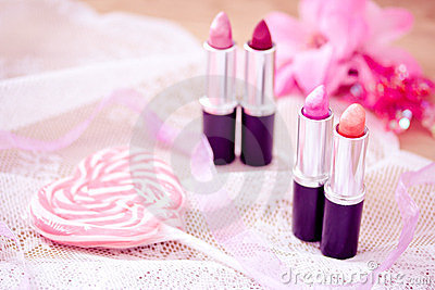 Candy color lipsticks
